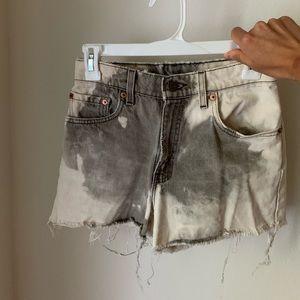 Levi acid wash vintage jean shorts
